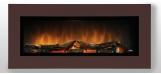 Nástěnný krb WALL FLAME 16  barva na přání: chocolate