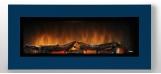 Nástěnný krb WALL FLAME 16  barva na přání: modrá