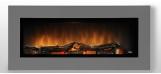 Nástěnný krb WALL FLAME 16  barva na přání: šedá