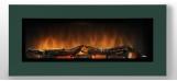 Nástěnný krb WALL FLAME 16  barva na přání: zelená
